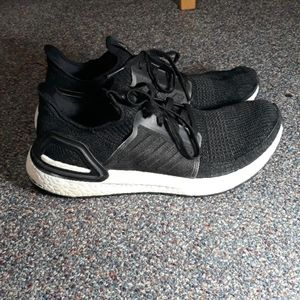 Adidas Ultraboost Black with White Sole / Boost